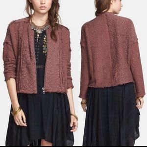 NWT Free People Favorite Crush Cardigan in Mulberry